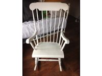 White wood rocking chair - project?!