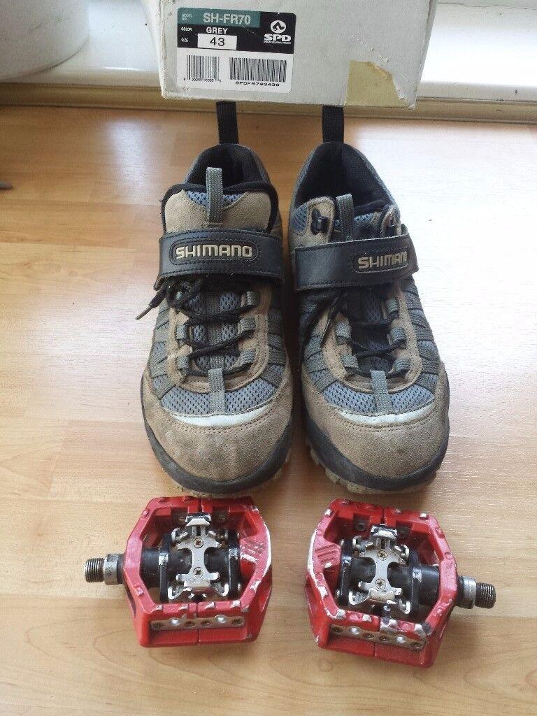 shimano cycle shoes and SPD padels