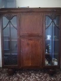 1920's side by side china cabinet