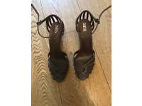 Used, Oasis Brown strappy heels size 6 for sale  Chorlton, Manchester