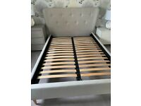Solid Slatted Hand Crafted MA Living Bed Frame & Headboard