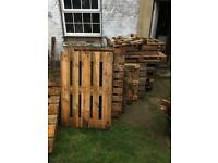Free pallets for collection.