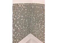 Mosaic tiles 30x30cm in 'jewel grey' (11 for sale)