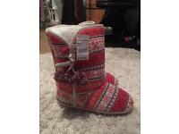 Brand new with tags slipper boots size 8