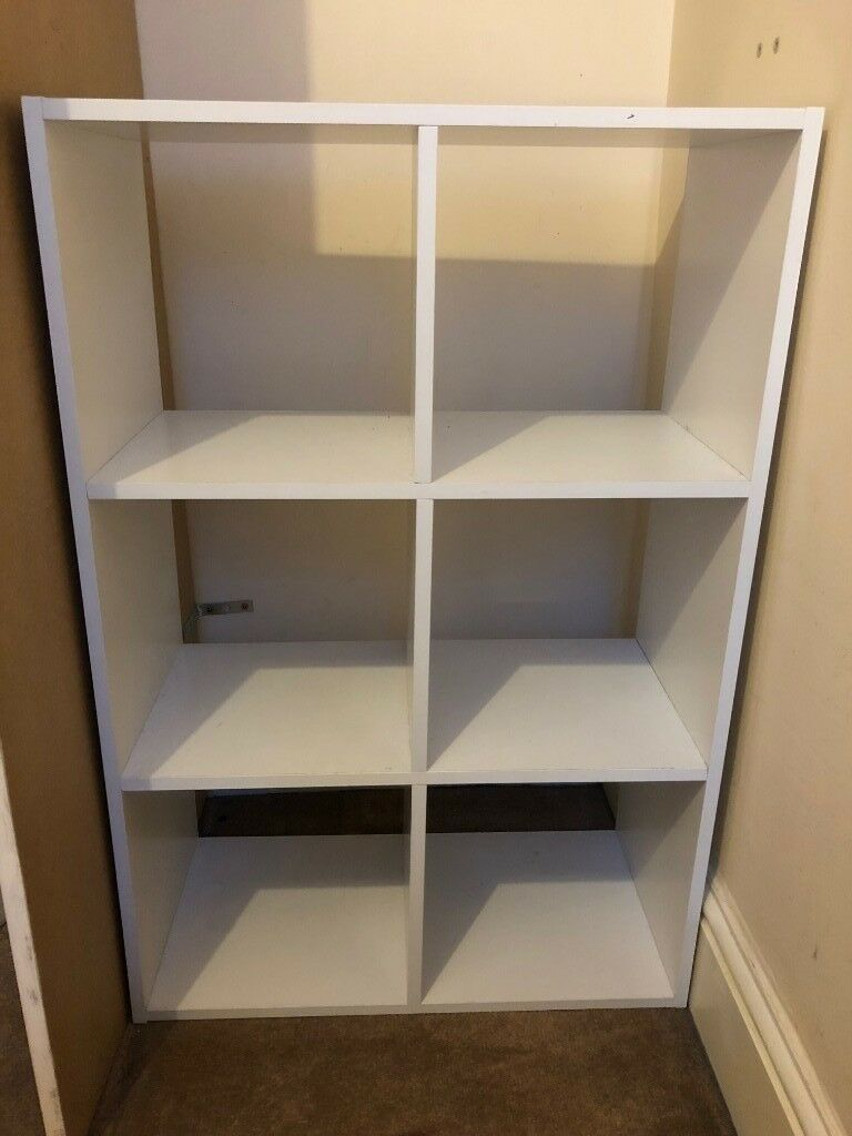 Storage Shelving Unit 6 Cube Shelves