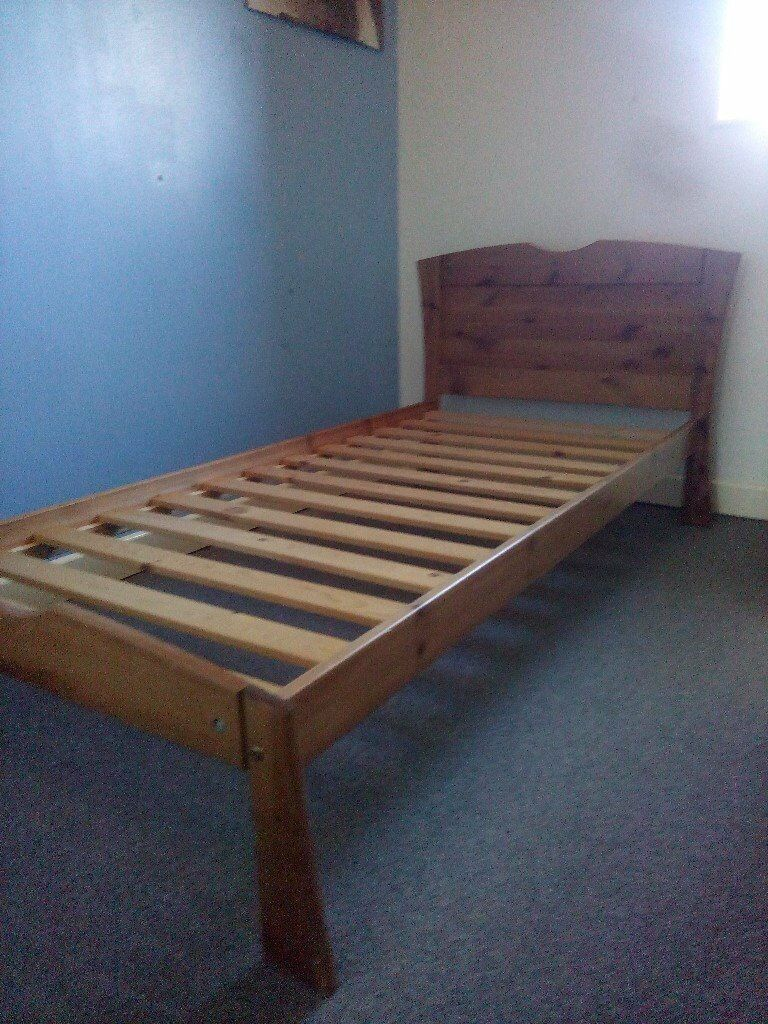 Small Short Single Wooden Bed Frame To Fit Mattress Size 26 X