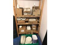 Job lot of plates, bowls, dishes, cups glasses