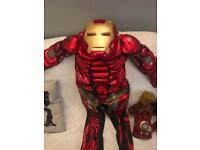 Iron man dress up costume with hands and gun