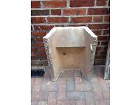 Concrete/stone fire back