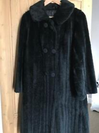 Vintage Ladies Faux Fur Coat