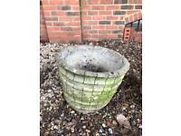Plant pot concrete