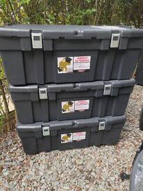 4 Durable Large Storage Trunks - Gorilla Box on Wheels - 92 Litres