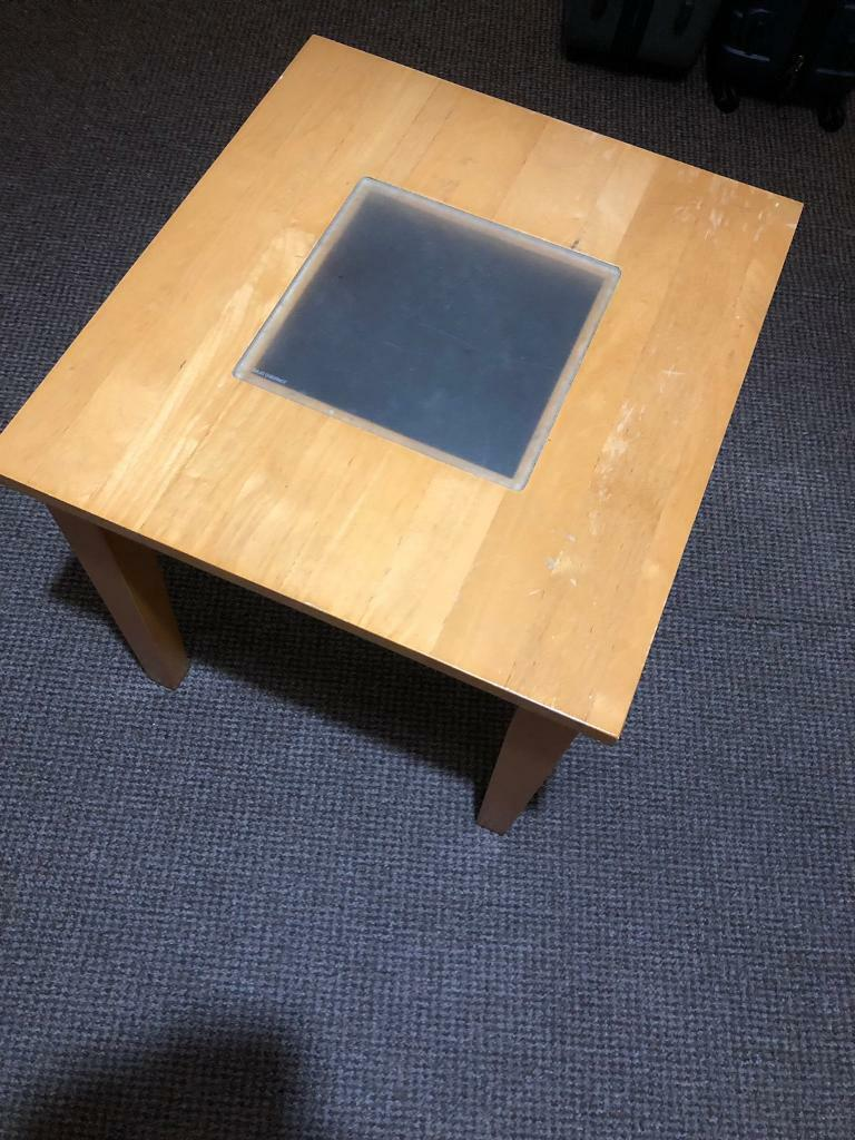 Square table with removable glass center | in Edge Hill ...