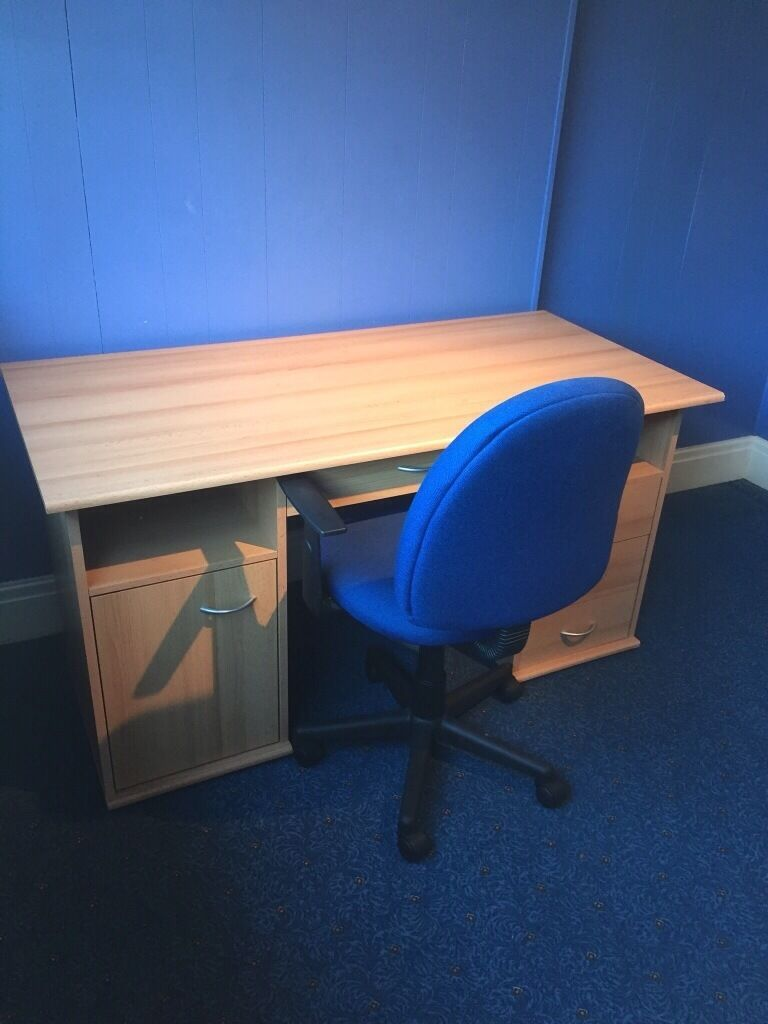 Desk and chair for salein Bradford, West YorkshireGumtree - Desk and chair for sale. Good condition, slight glue marks on desk top