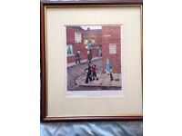 Tom Dodson signed print - Mountaineering in Mill Street