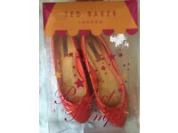 Red Ted Baker Shoes size 6 new in box