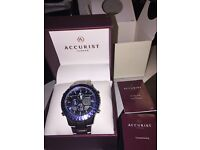Accurist world time chronograph never worn