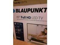 BRAND NEW!! Blaupunkt 49/235Z-GB-11B-FGU-UK 1080p Full HD LED TV (Freeview HD, Slim)