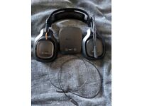 Astro A50 wireless gaming headset with mix amp, optical cable, only missing micro USB
