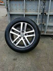 "Vw 16"" alloys 5x112 fitment new tyres"