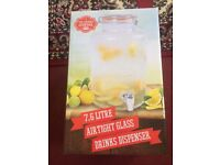7.6 litre airtight glass drinks dispenser