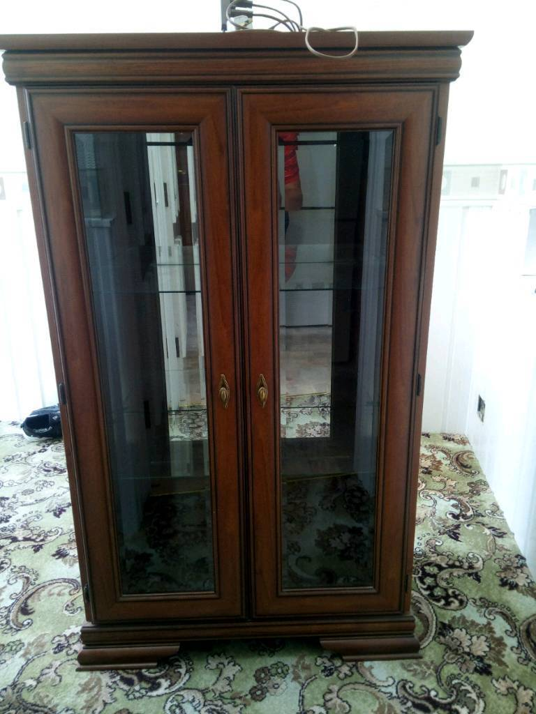 Wooden Cabinet With Glass Doors And Shelves In Royston South