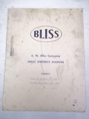 Ownersparts Manualbliss No. 61 Press