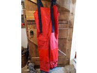 Foul weather sailing jacket and bibbed trousers