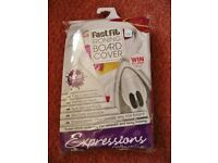 JML Pink Brown Yellow White Pick n Mix Fast Fit Ironing Board Cover Reflects Heat Non Slip Surface