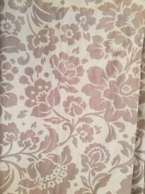 Cream and beige curtains