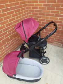 Oyster Pushchair & Carry Cot + accessories