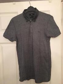 Small men's next polo shirt grey