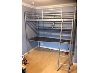 Ikea tromso single loft bed .