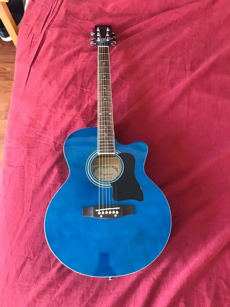 Brand New Blue Daytona Electro-Acoustic Guitar Mod No  A401CE-BL and  Accessories | in Southville, Bristol | Gumtree
