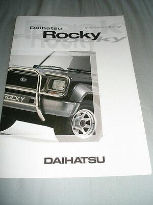 Daihatsu Rocky brochure Nov 1997 Dutch text