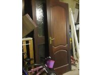 Internal hardwood doors rosewood finish