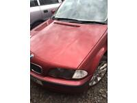 BMW 3 Series 323i Runs and drives (spares or repairs)