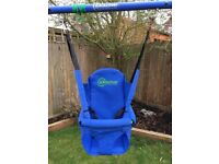 Baby garden swing seat attachment
