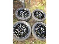 17 inch Vauxhall alloy wheels alloys for vectra zafira astra 5 x 110 pcd