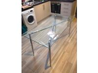 Glass table seats 6, or office desk