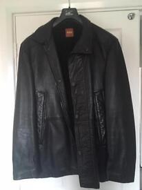 Hugo Boss Men's Leather Coat