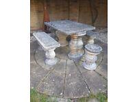 £30 Stone Patio Set *****now sold******