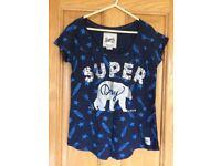 Dark blue ladies superdry T shirt. Size medium?