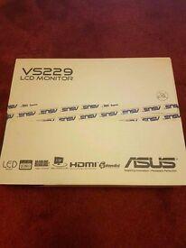 Asus Full HD Led monitor 21,5 inch( HDMI, VGA, DVID)