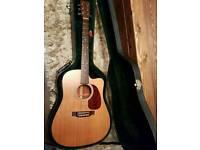 Martin dc1e USA electro acoustic guitar + case