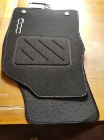 BRAND NEW FULL SET OF 4 FITTED MATS FOR A FIAT 500 TO FIT UK MODEL YEAR 2015 TO PRESENT