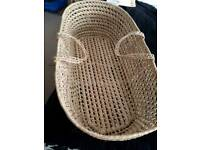 MOSES BASKET (NO MATTRESS) IN GOOD CONDITION