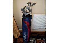 Wilson golf bag and golf trolley