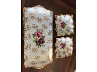 Sandwich tray and 2 side dishes