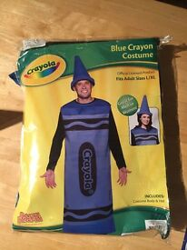 Blue Crayola Fancy Dress Costume